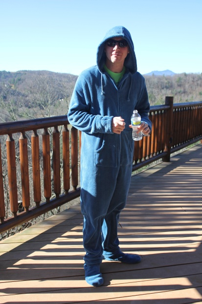 A 28-year old footie pajama twin