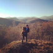 Exploring the mountains with my girl