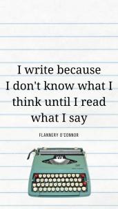 Copy of I write because